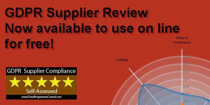 GDPR Supplier Review